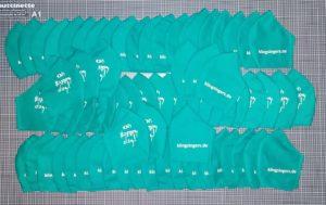 Viele, viele KlingSingers-Masken, mit Liebe genäht.